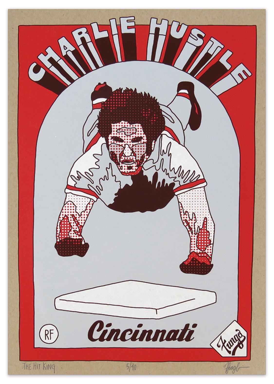 The Hit King: 1985 Charlie Hustle Screenprint