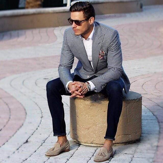 A patterned sportcoat is a great way to add texture!
