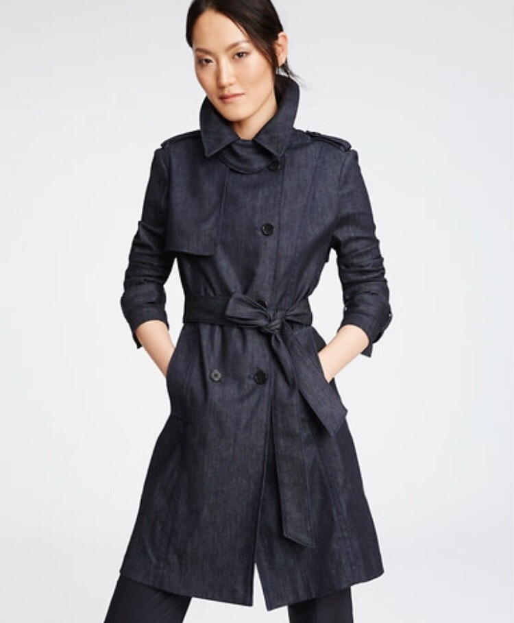 Denim Trench, $228