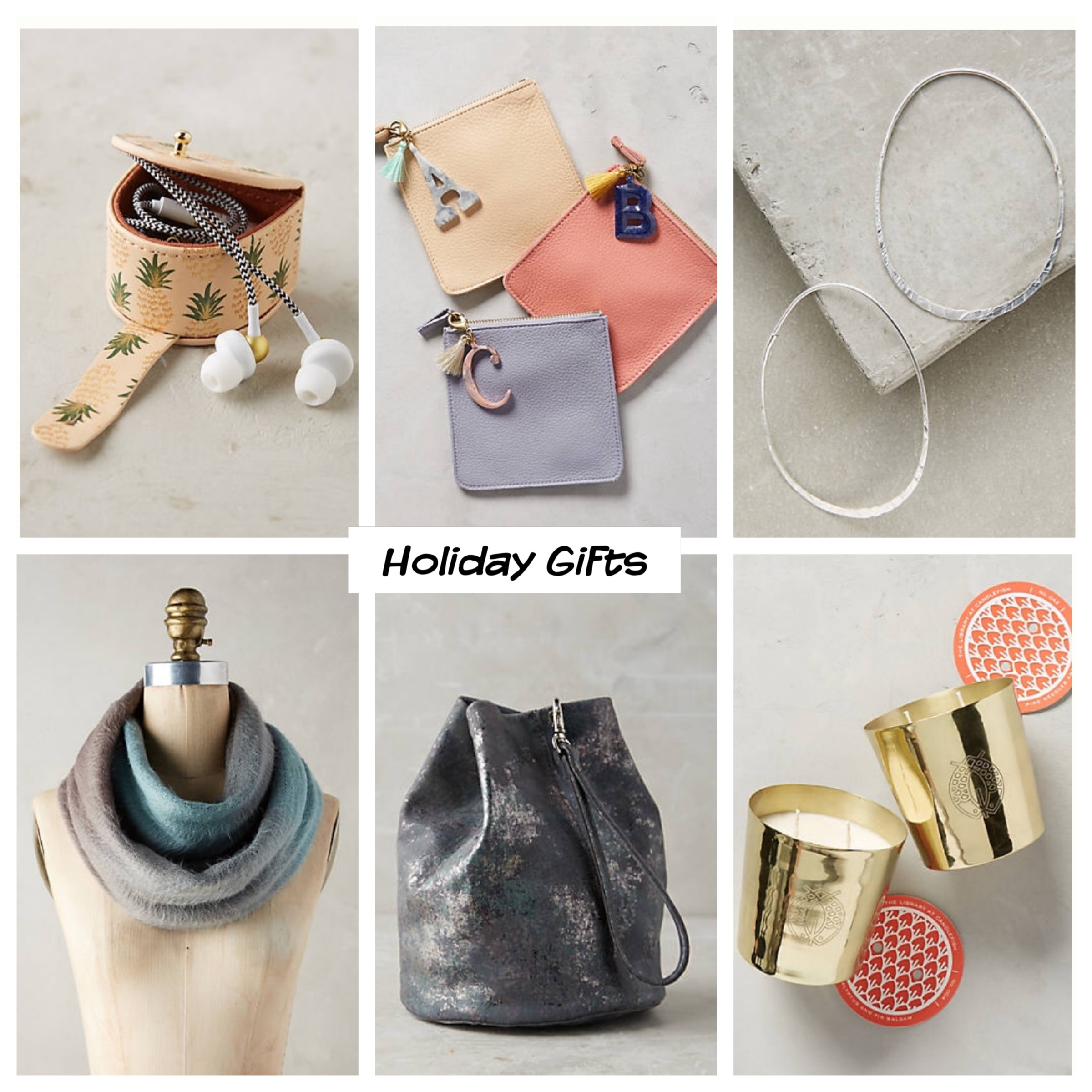 All items featured are from Anthropologie, prices range between $20-$128.