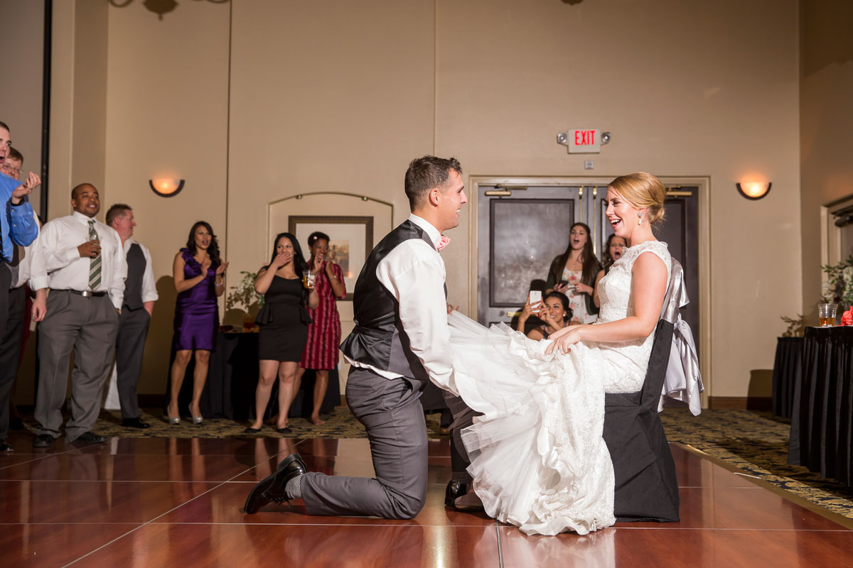 The garter pull: I believe their faces say it all!