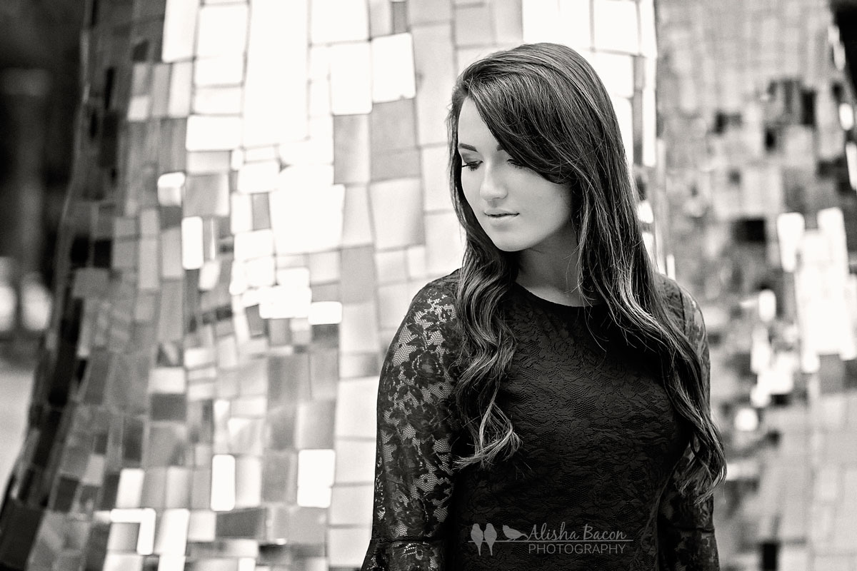 Grace is such a beauty! I love this one in black and white; it reminds me of classic Hollywood. Sometimes the more candid images are my favorites for seniors!