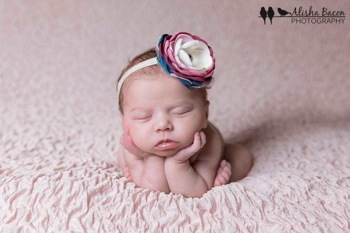 Newborn in froggie pose