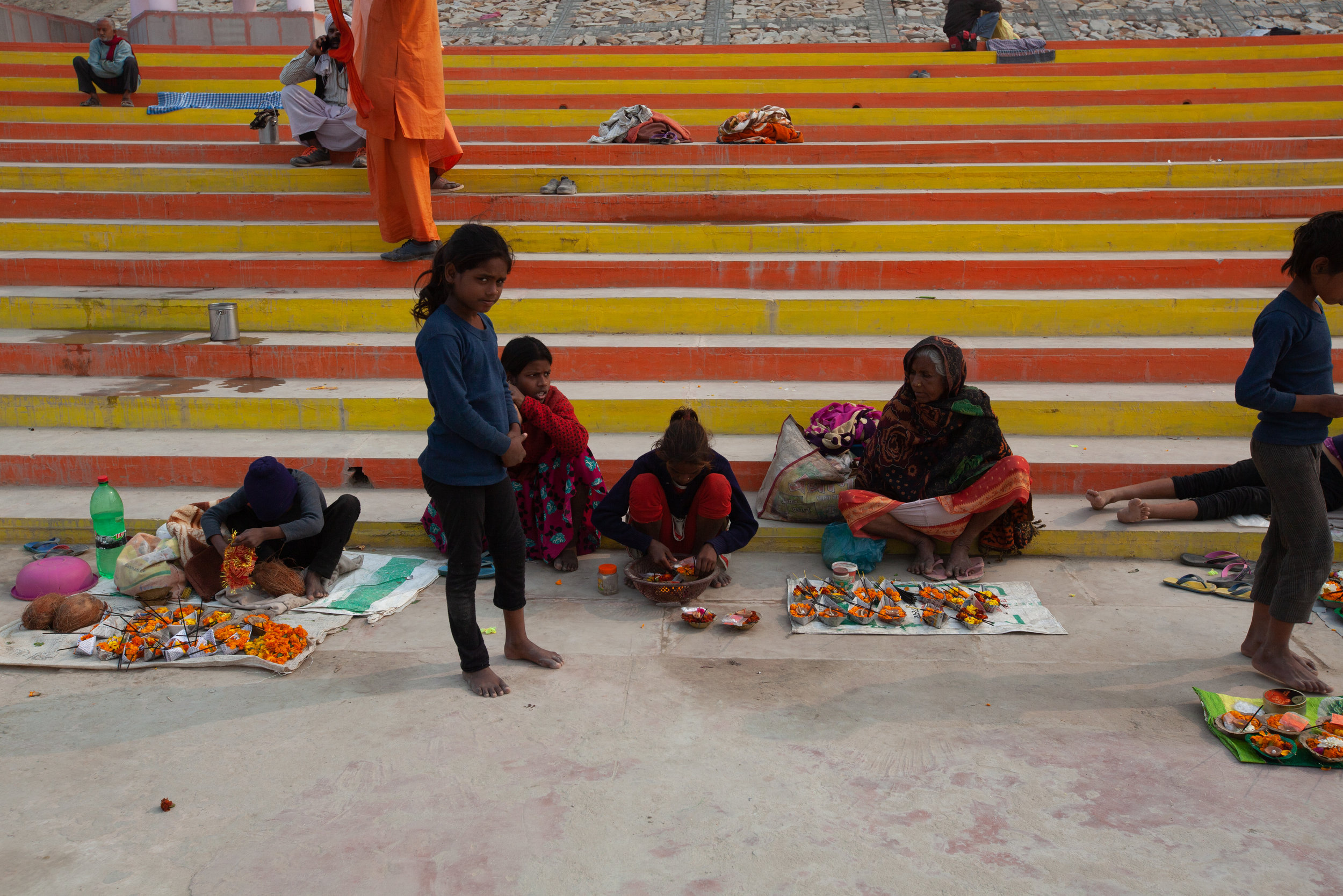 Selling Offerings for the Ganga