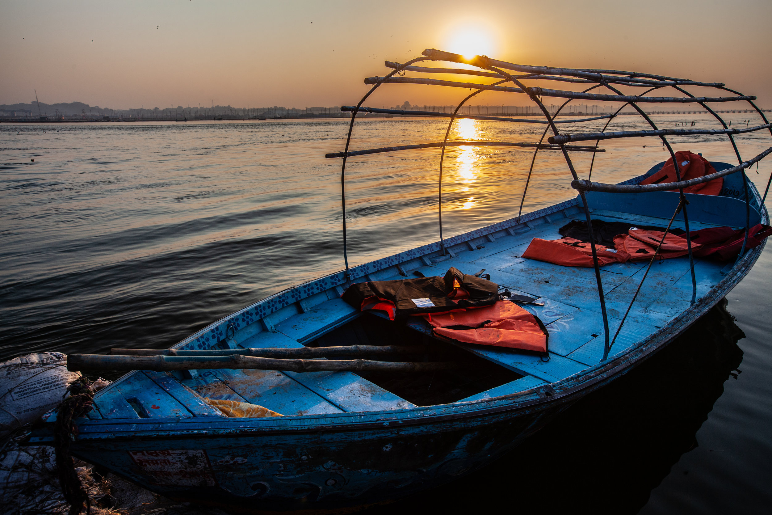 Sunrise on the Ganga in the Kumbha Mela