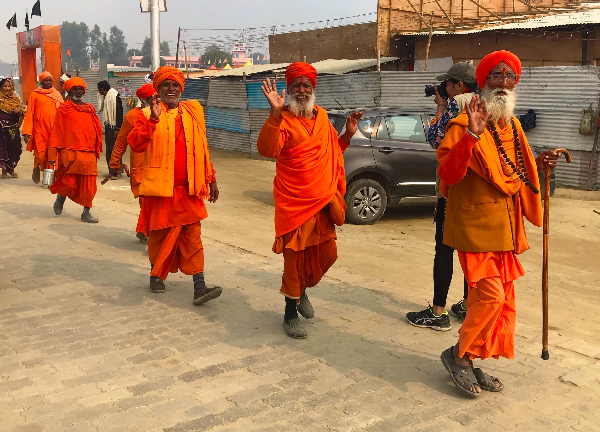 Entering the Kumbha Mela Festival, Sadhus everywhere