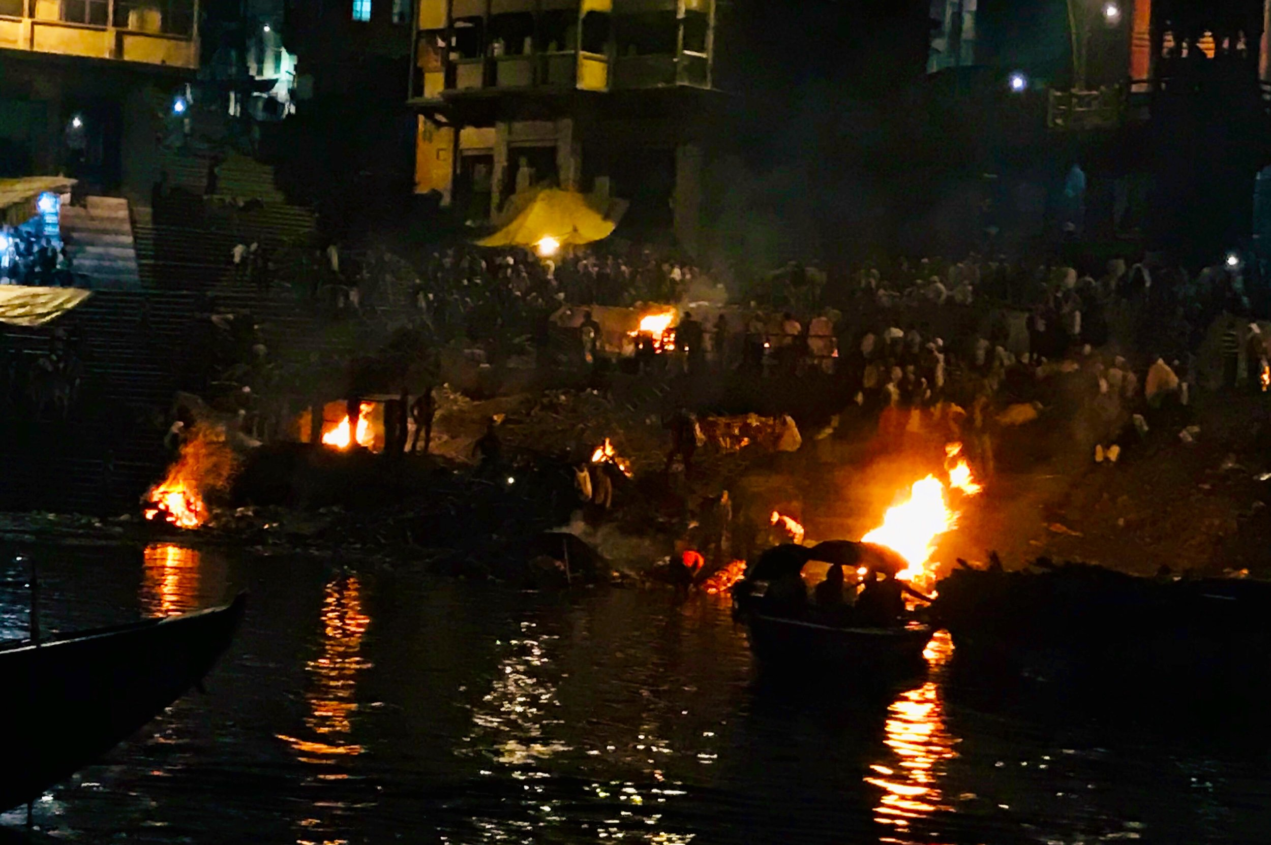 Cremation site on the Ganga in Varanasi
