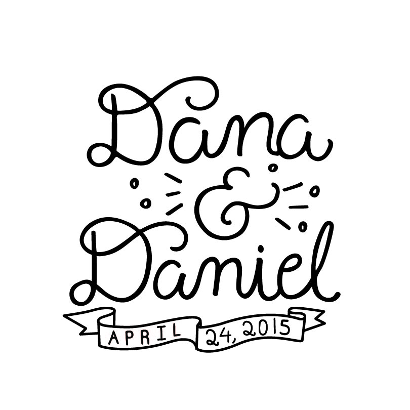 Hand drawn titles by Emily Poulin