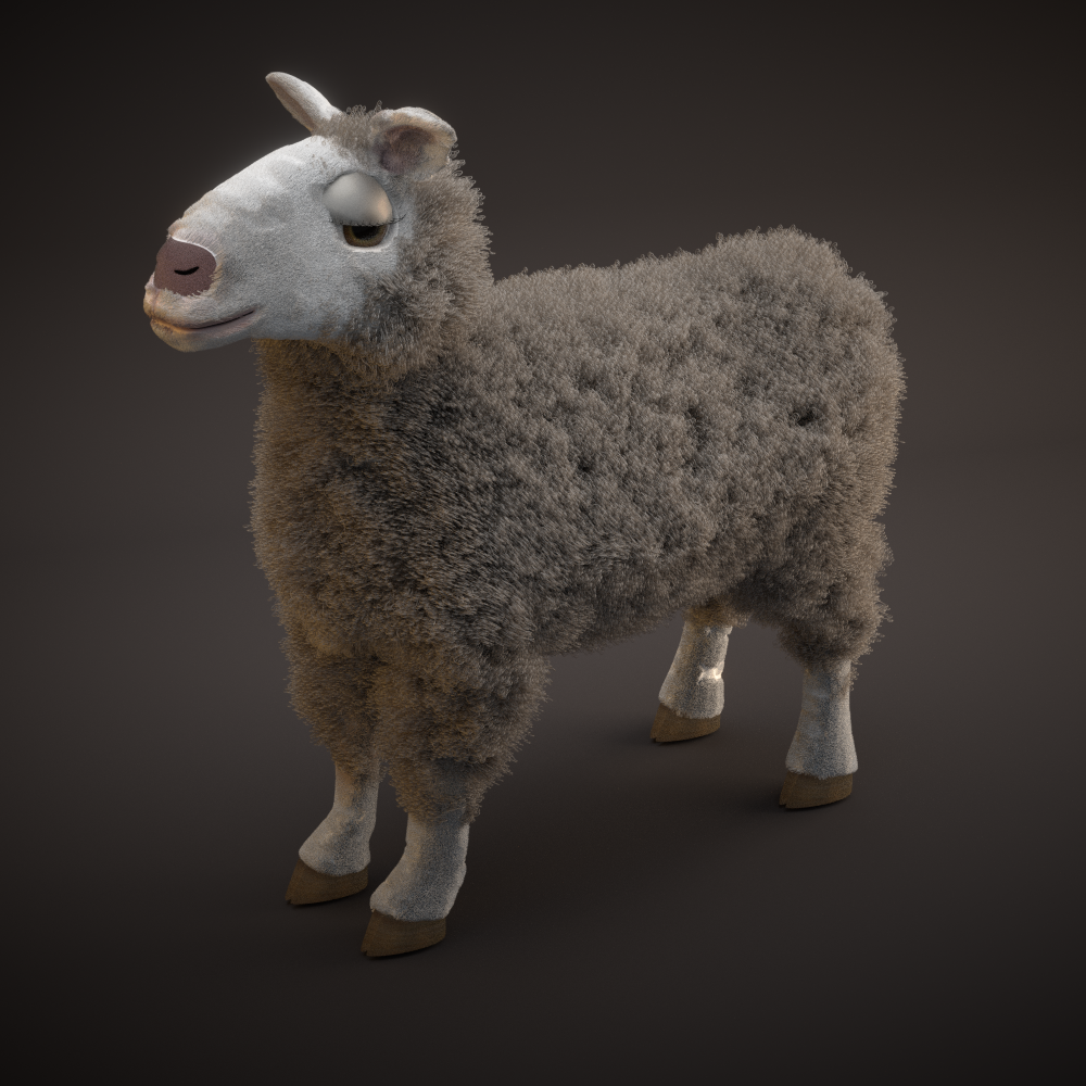 Changed the background and started using a voronoi texture to control the wool's length.