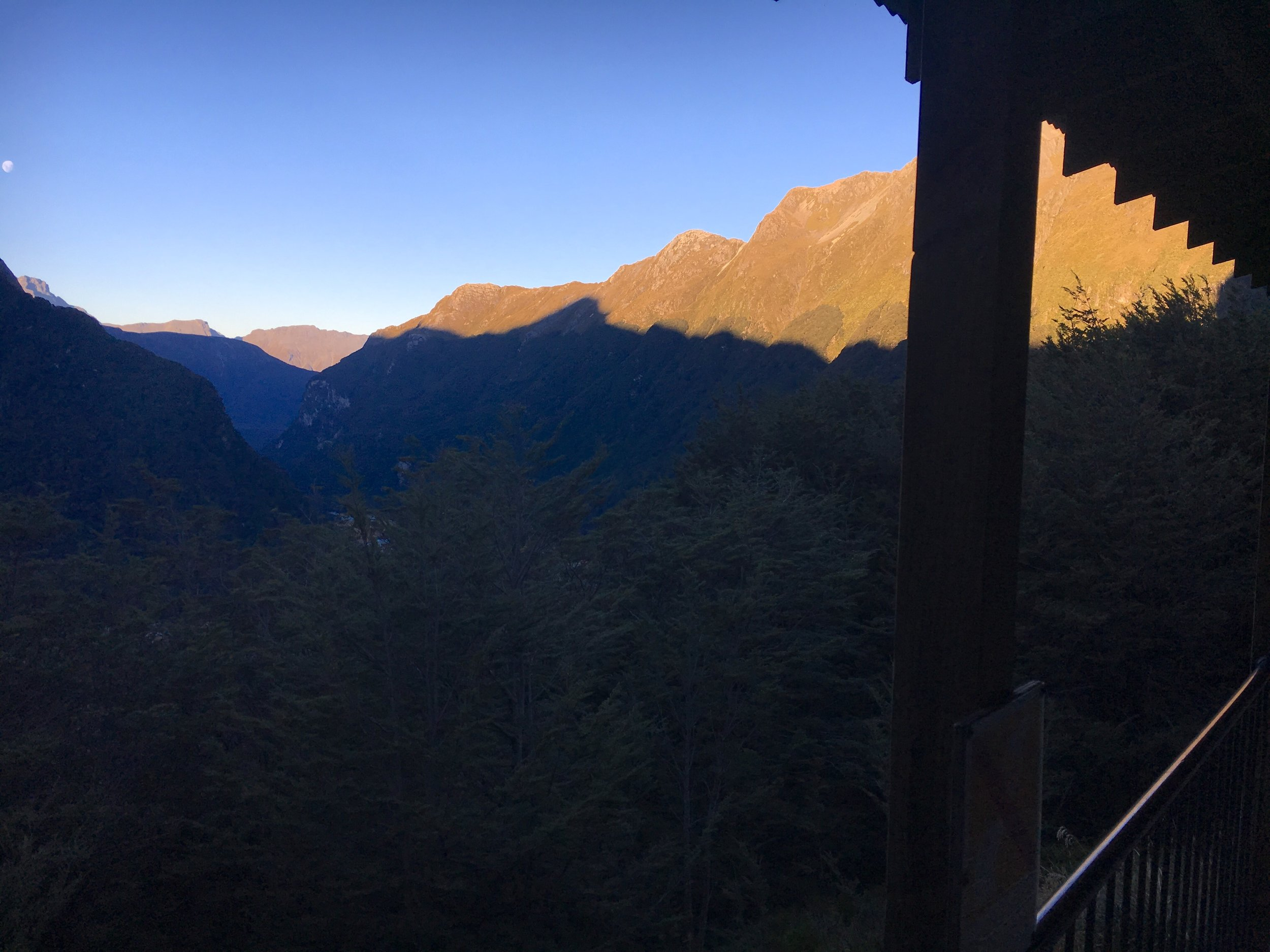 Routeburn Falls hut, day 2
