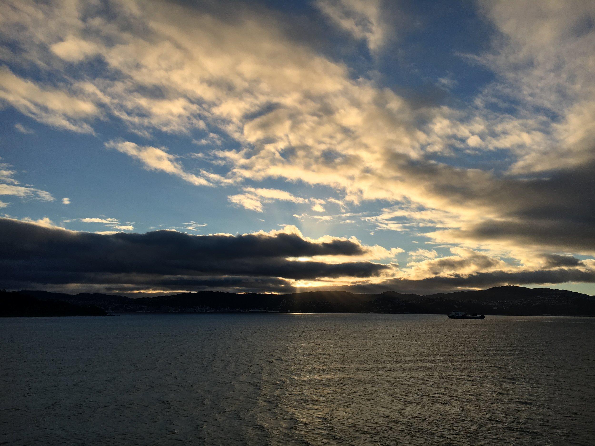 Entering Wellington Harbor