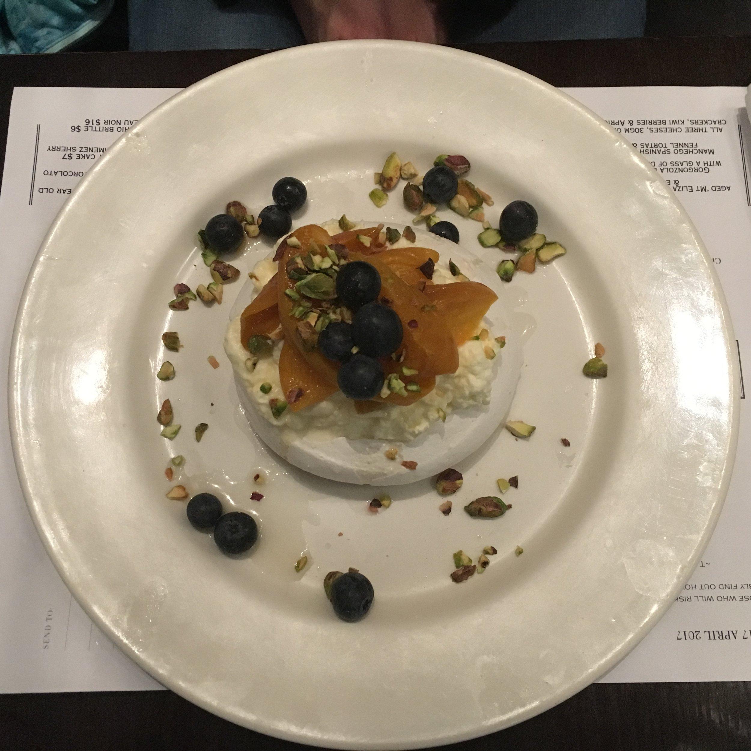 Pavlova, a NZ dessert