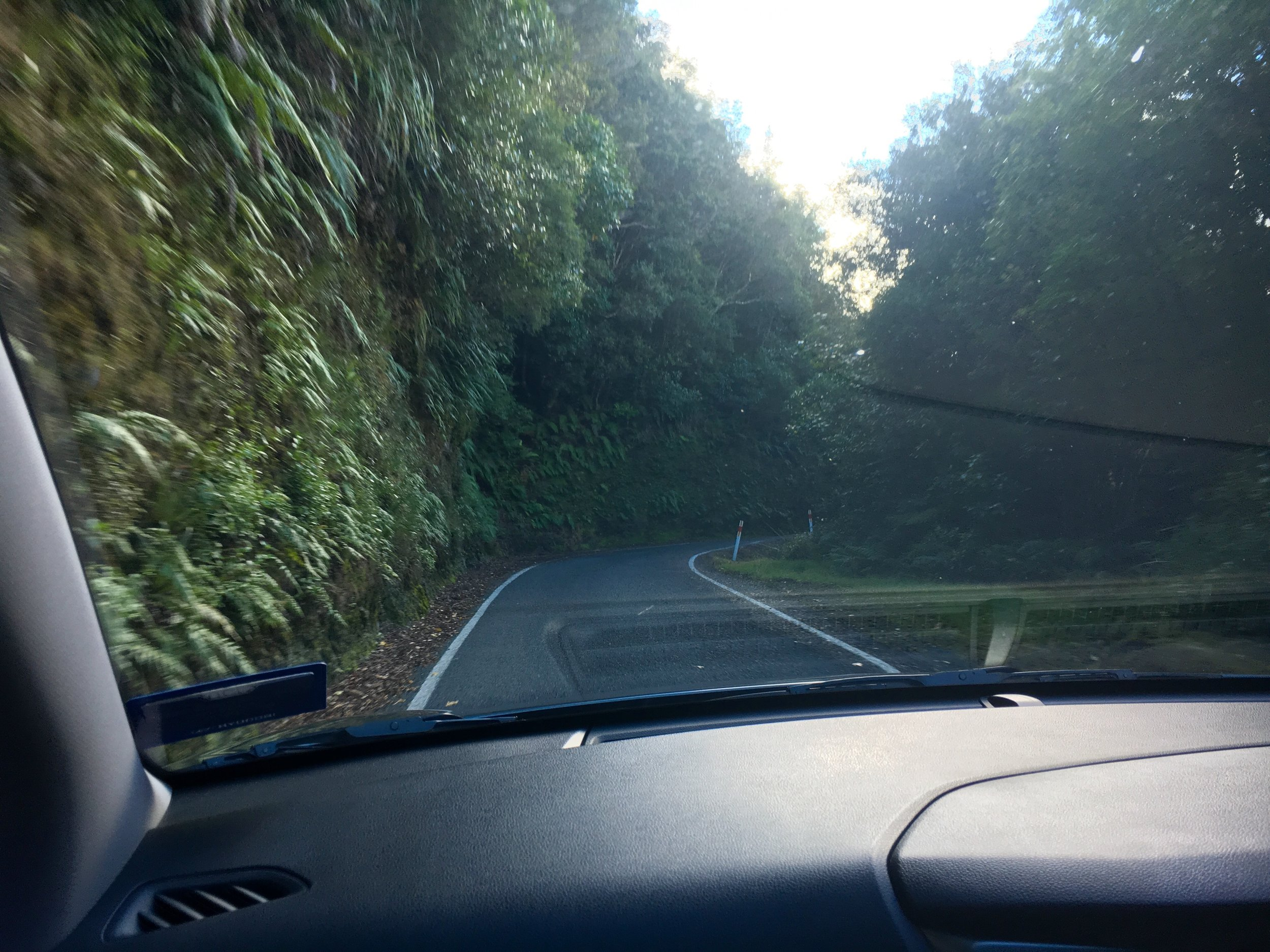Two lane country shortcut. Nerve wracking.