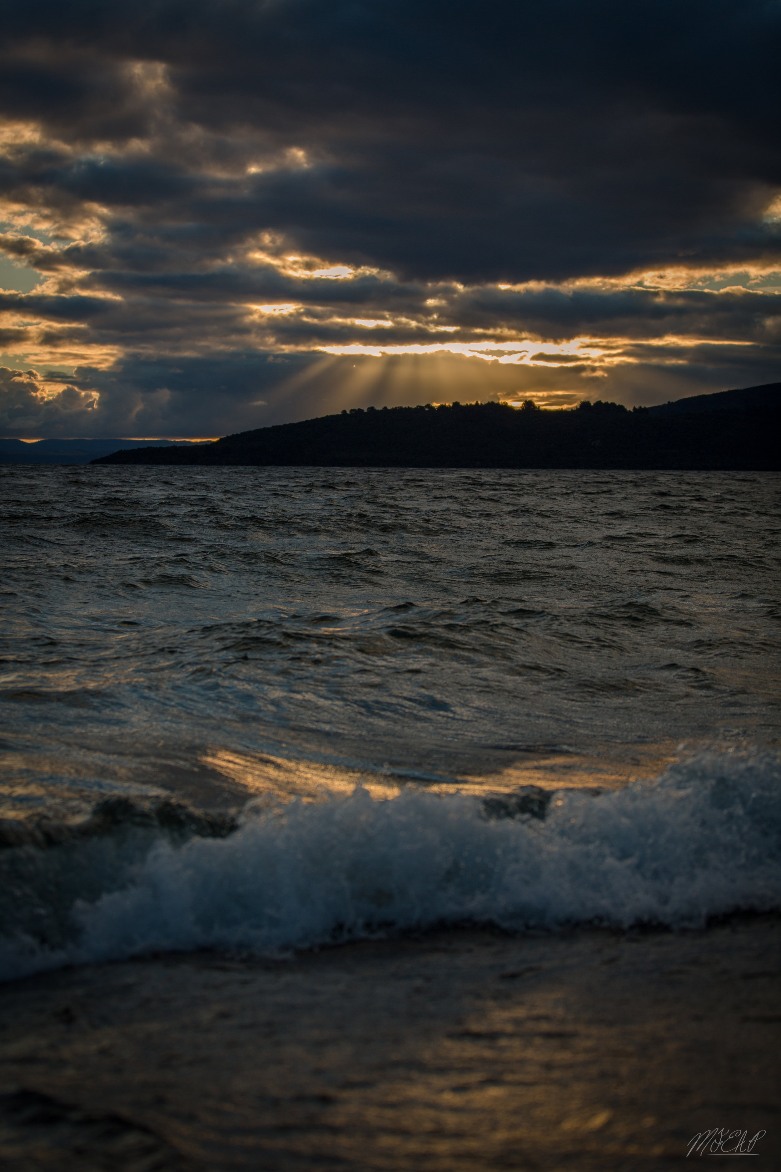 On the shores of lake Taupo