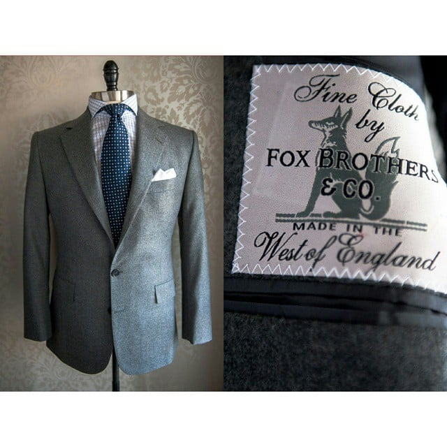 Just delivered this bespoke commission to Mr. K.  Two piece number using the very best English flannel.