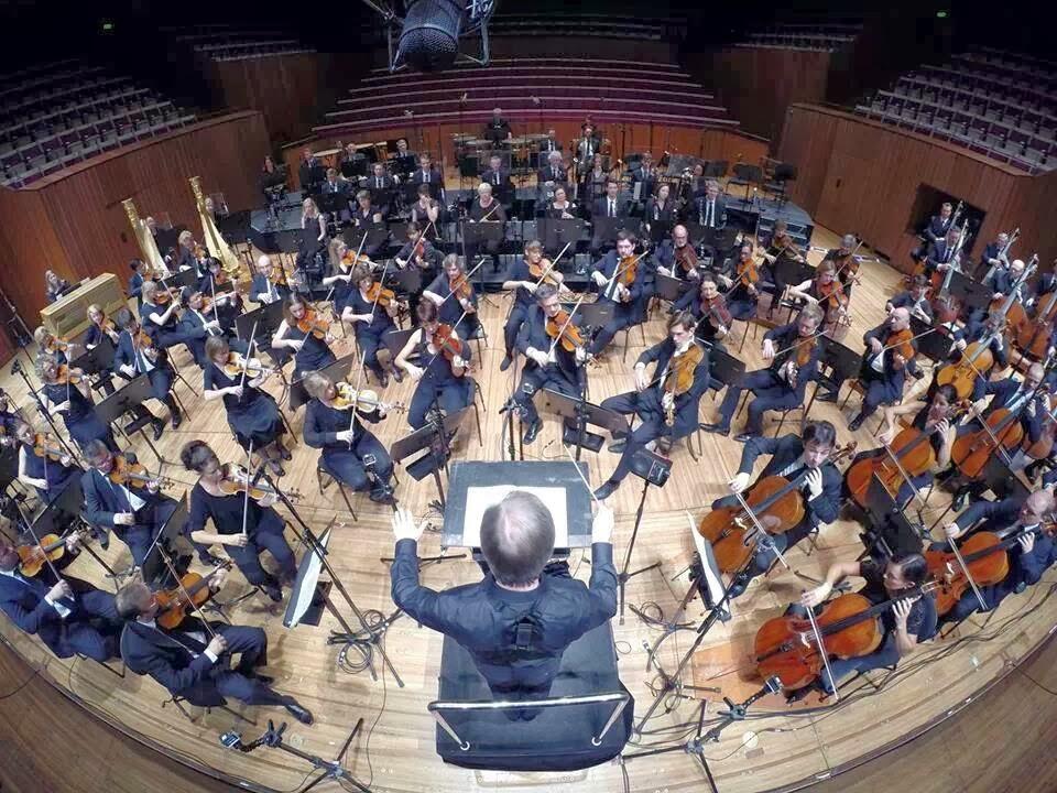 The Sydney Symphony Orchestra rehearsing at the Sydney Opera House