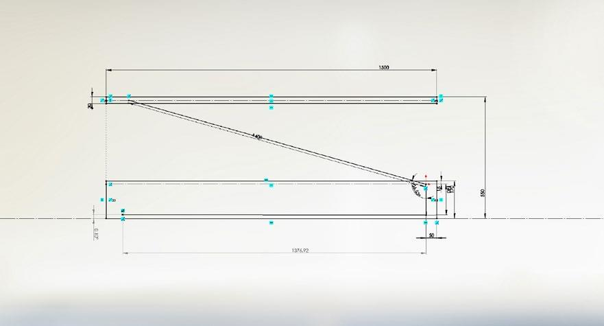 A New configuration to create a more linear force relationship between the spring extension and stage height.
