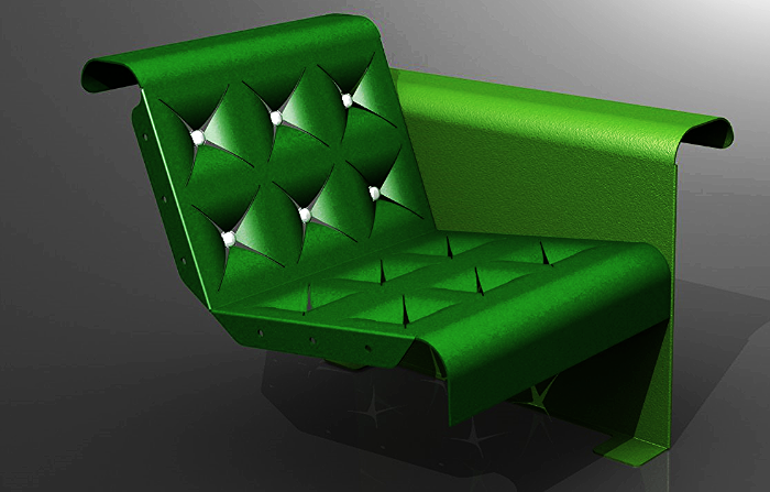 a seating module, designed for comfortable reclining