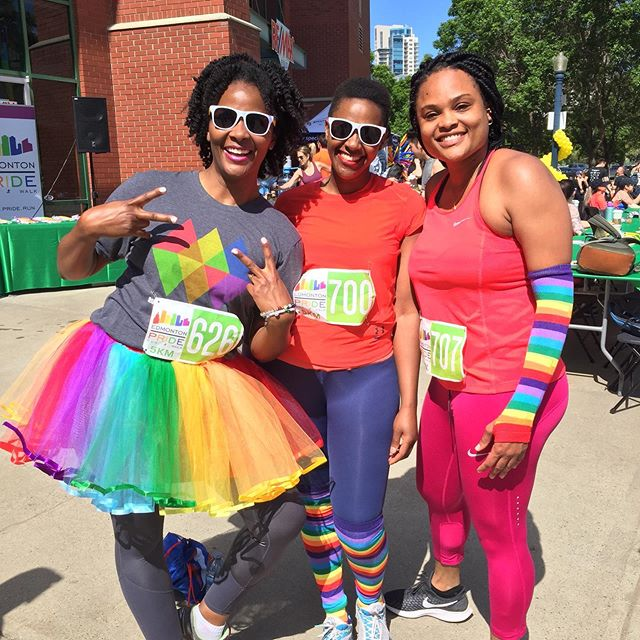 We love every one of your beautiful faces! #yegpriderun #yegpride