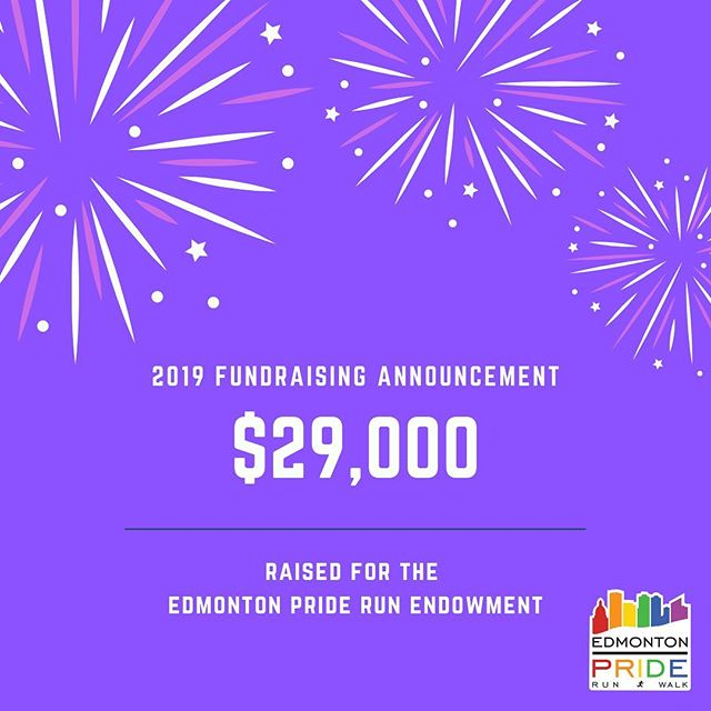 We are excited and proud to announce that the 2019 Edmonton Pride Run & Walk has raised $29,000 for the Edmonton Pride Run Endowment, which now brings the Endowment total to over $50,000.  The Edmonton Pride Run Endowment earnings will be used to fund the newly created Edmonton Pride Run Bursary. The bursary will be awarded, for the first time in the fall of 2019, to students who identify as LGBTQ2S with satisfactory academic standing enrolled in any year of an undergraduate degree. Selection will be based on demonstrated financial need. This is the first scholarship, award or bursary at the Univerisity of Alberta specifically for students who identify as LGBTQ2S.  Thanks to the generosity of the Edmonton Pride Run participants, donors, and sponsors, this inaugural bursary at the Univerisity of Alberta will have a significant impact for many years to come.  #yegpriderun #yegpride #yegrun