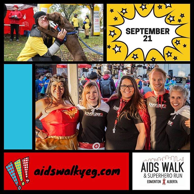 Our friends @hivedmonton (who hosted our water station at this year's Pride Run) are hosting their 28th Annual AIDS Walk & Superhero Run this Saturday, September 21st. It is their largest fundraiser and funds raised work hard to support their programs, education, and support for people living with HIV.  This is an important and fun event! Sign up to run/walk or make a donation to help them achieve their fundraising goal this year!  For more details including how to register for the run and walk, visit their website at www.aidswalkyeg.com