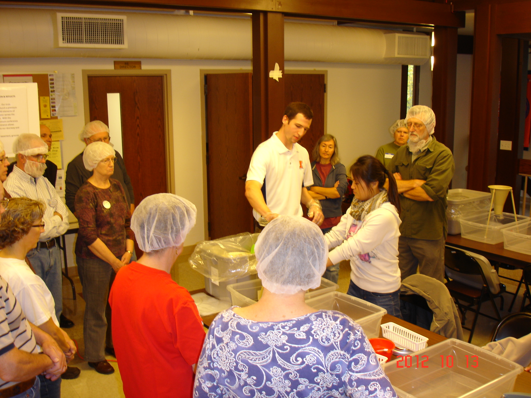 Food Pantry Rice re-pack event