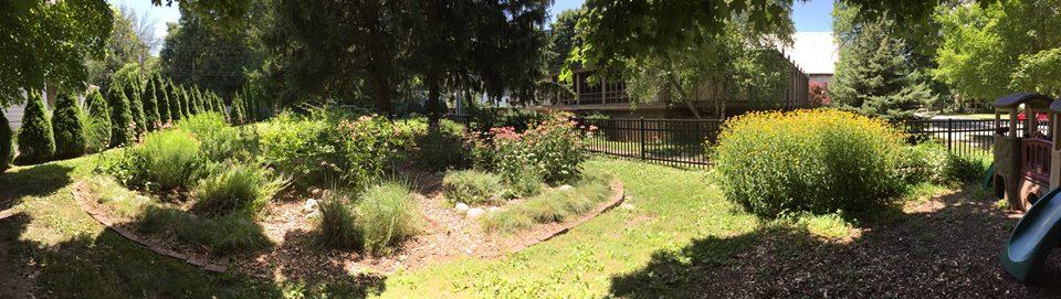 Green UU's Butterfly Garden in playground