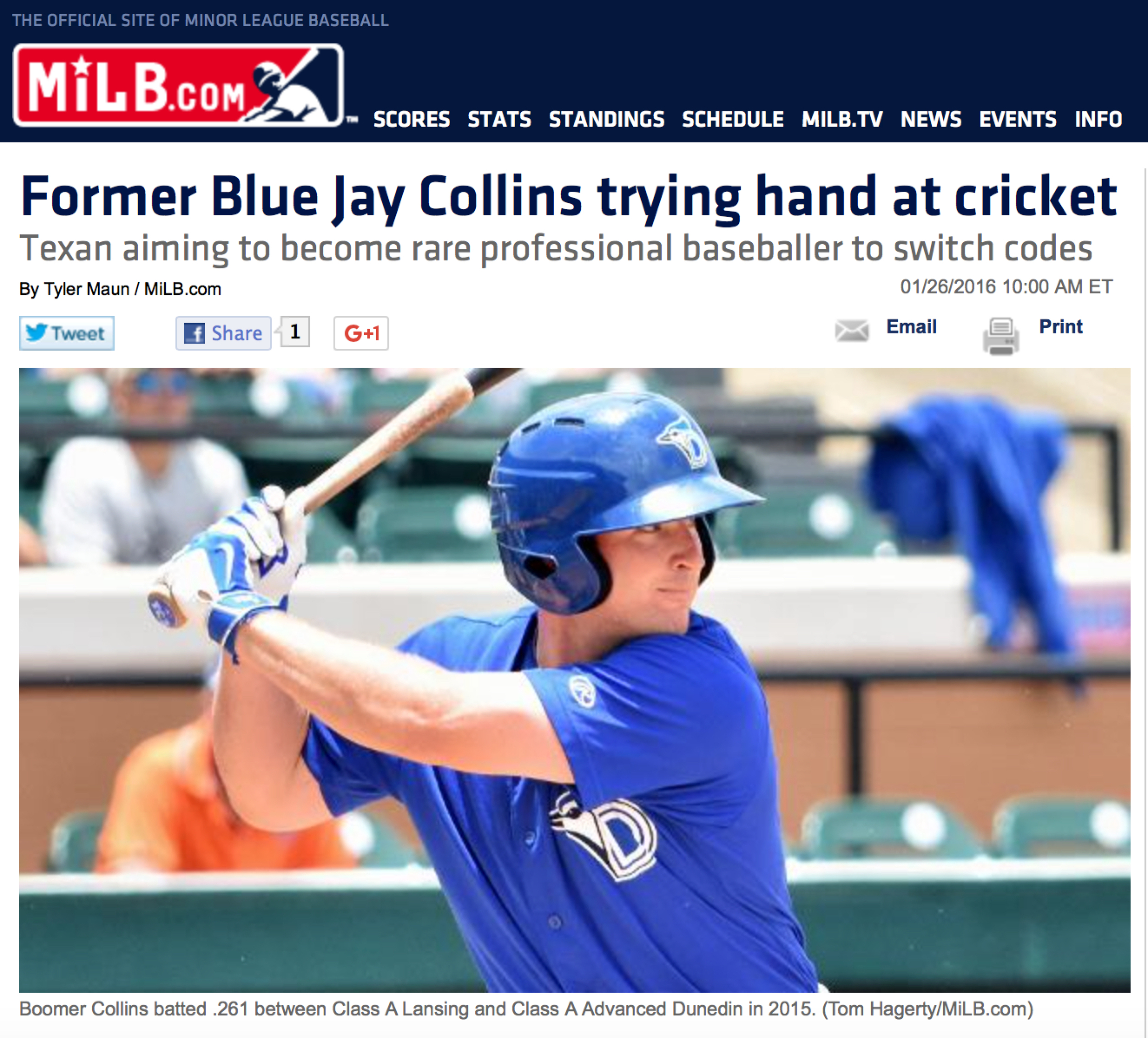 MiLB Boomer Collins pic