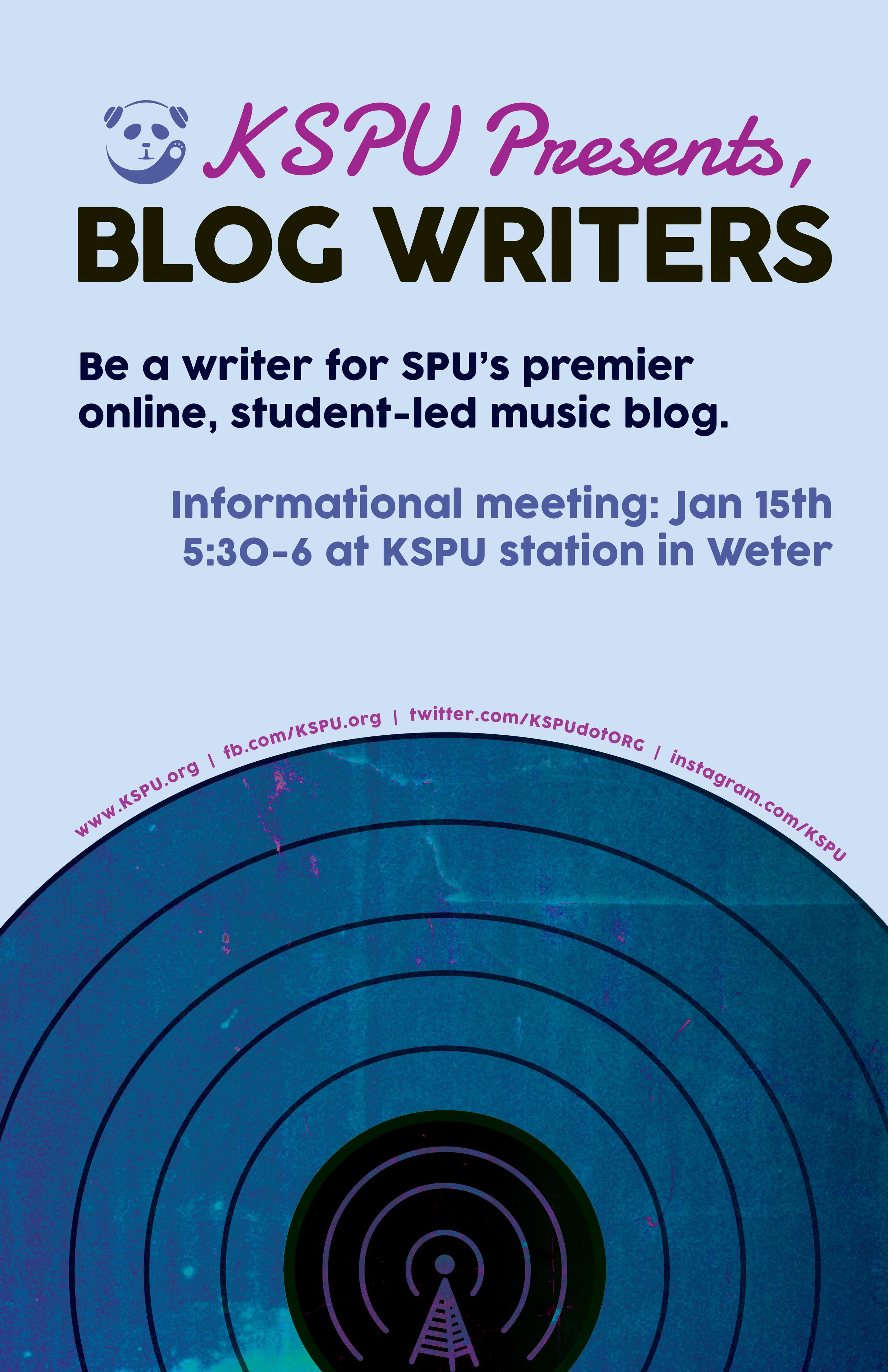 KSPU DJ signups winter quarter 15