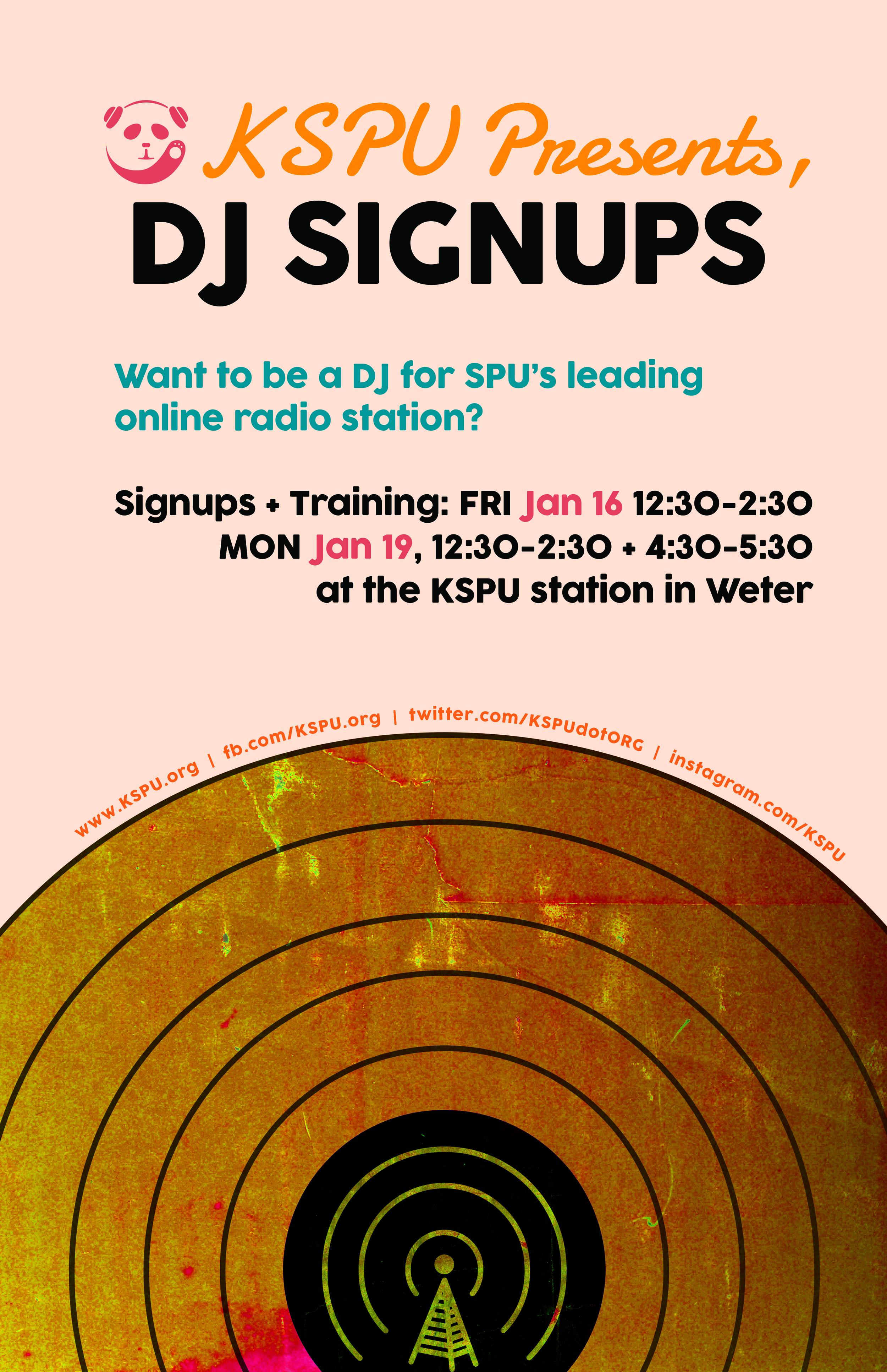 KSPU DJ signups winter 15
