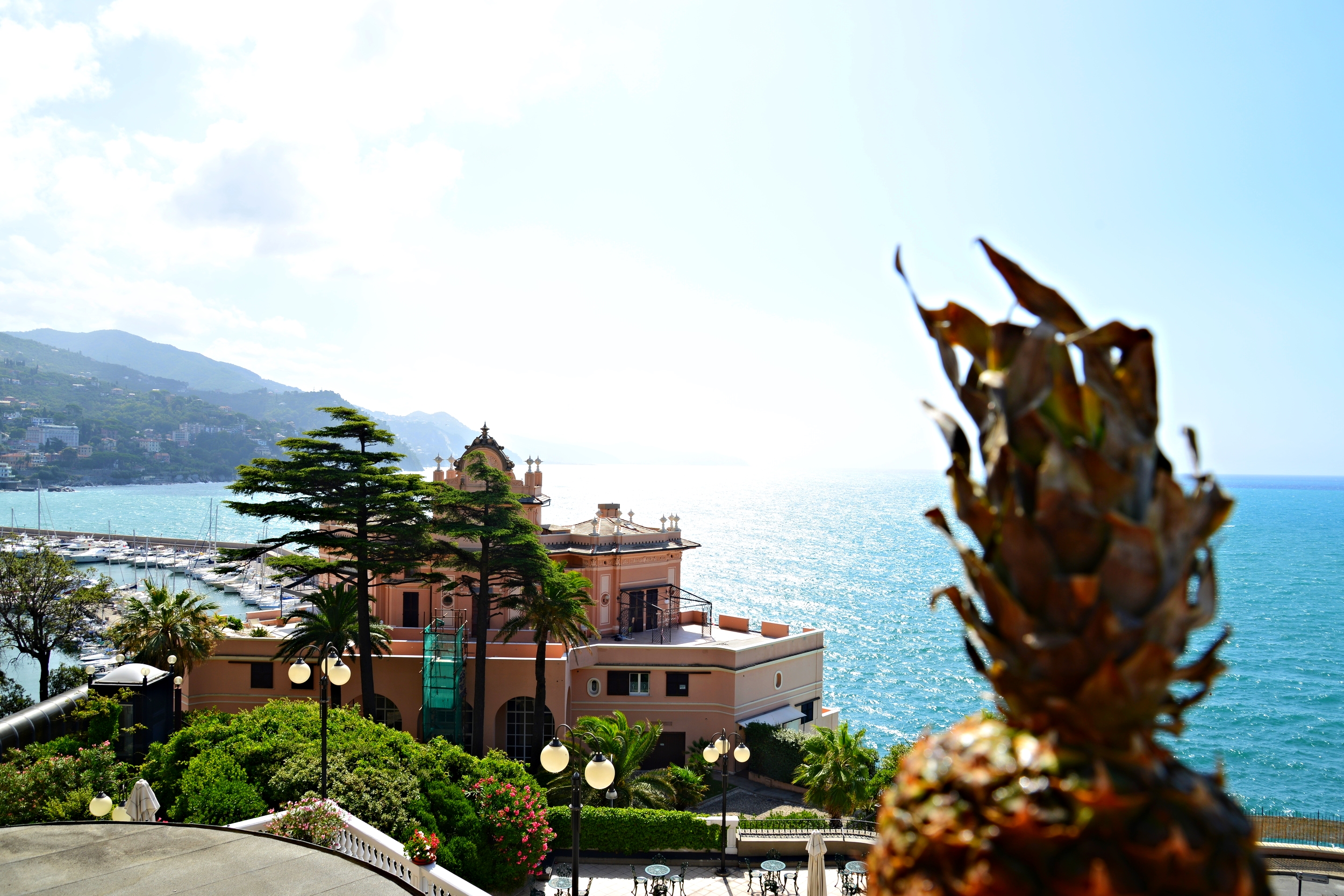 View from my room was just breathtaking, I stayed at this gorgeous hotel in the municipality of Rapallo in Liguria called Excelsior Palace.