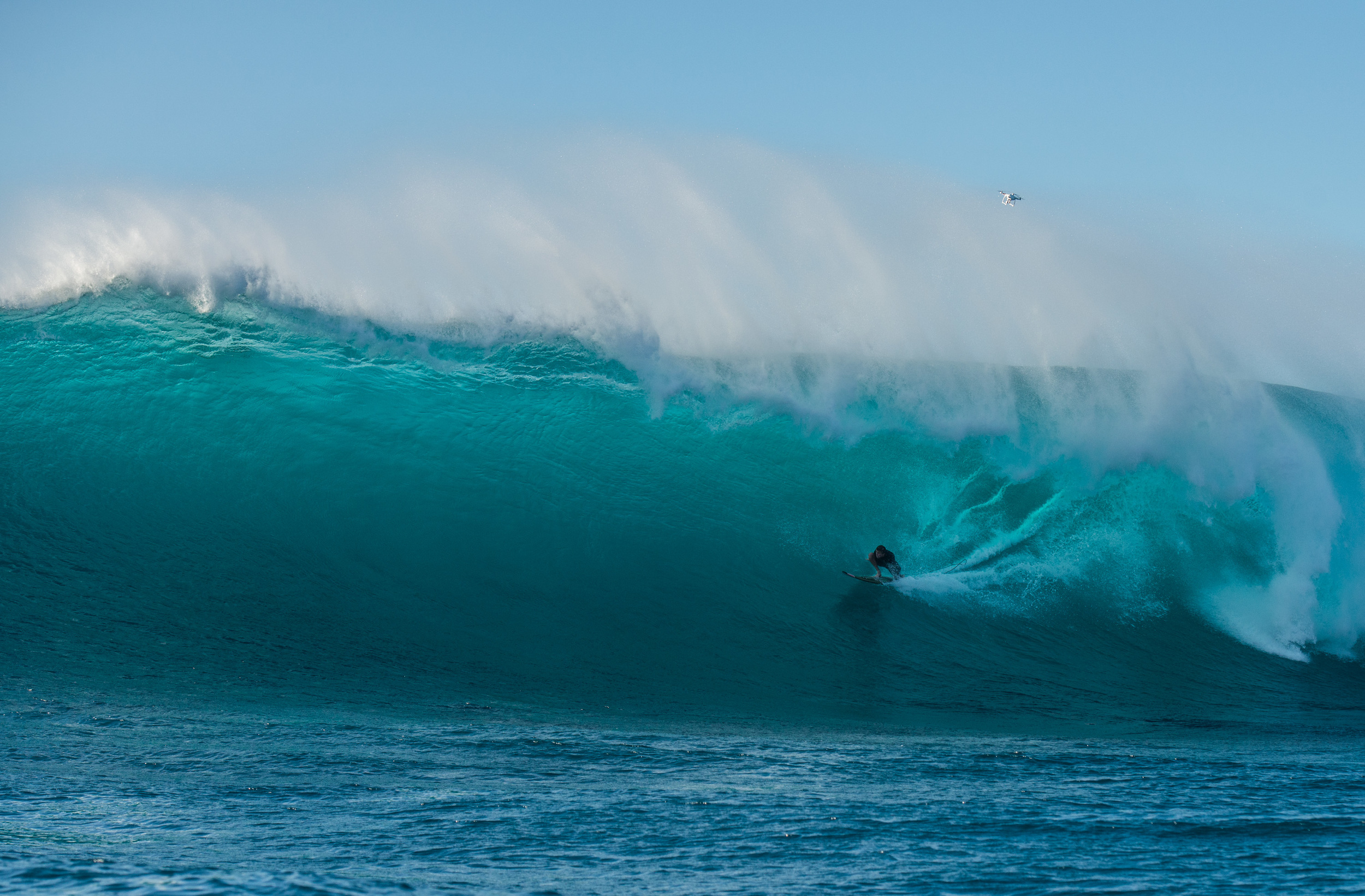 Mark Healey on bomb split seconds before getting barreled