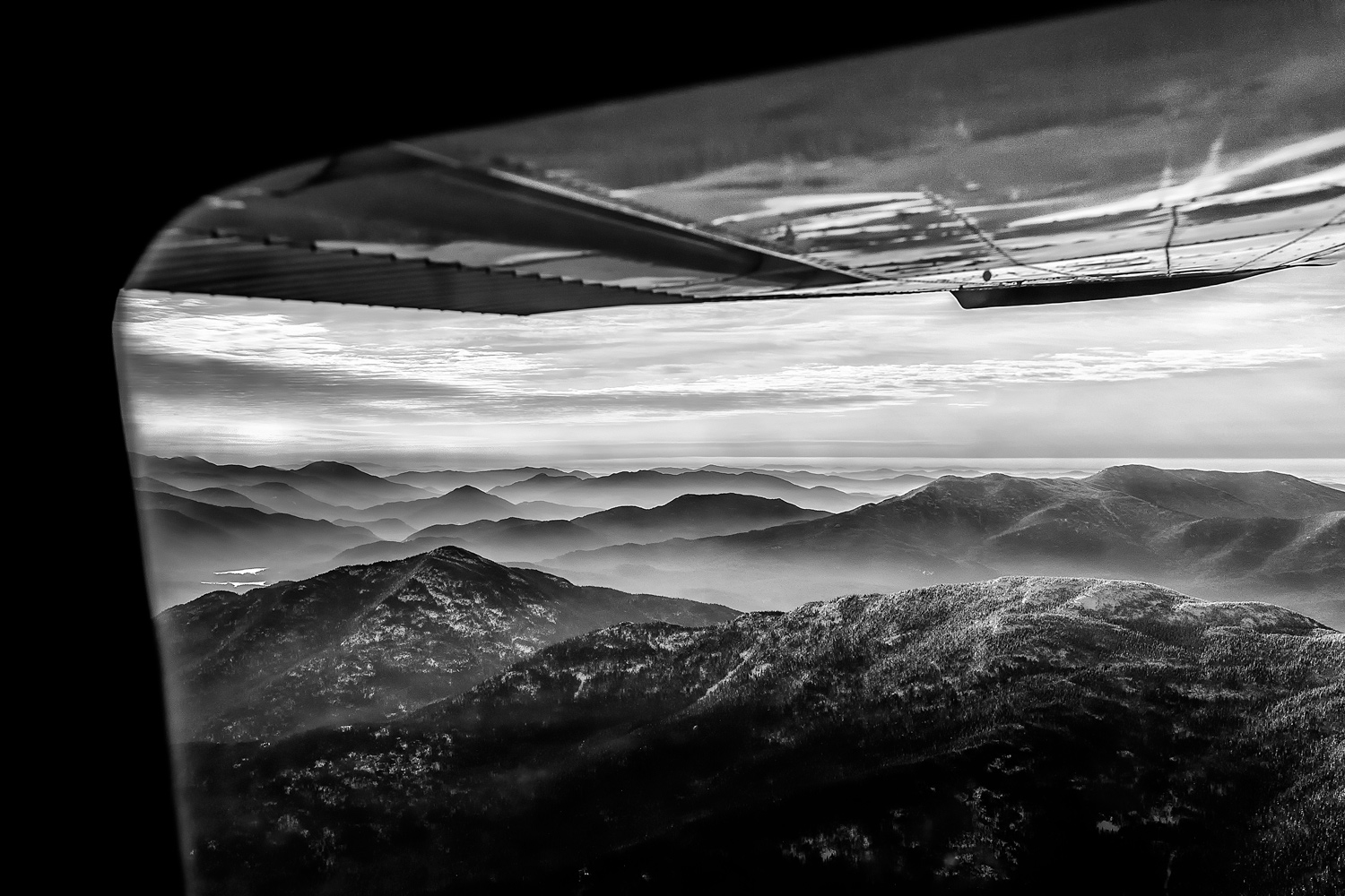 Departing Lake Placid in the early morning, westbound for Cleveland