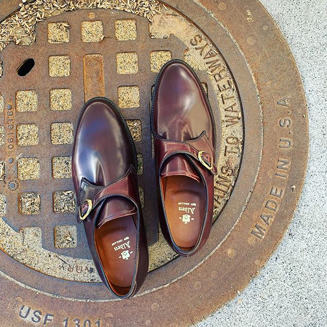 D E V O T E D . . . #color8 #alden #aldenarmy #madeinusa #shellcordovan #oxford #monkstrap #gentlemanstyle #footwear #middleburg #virginia