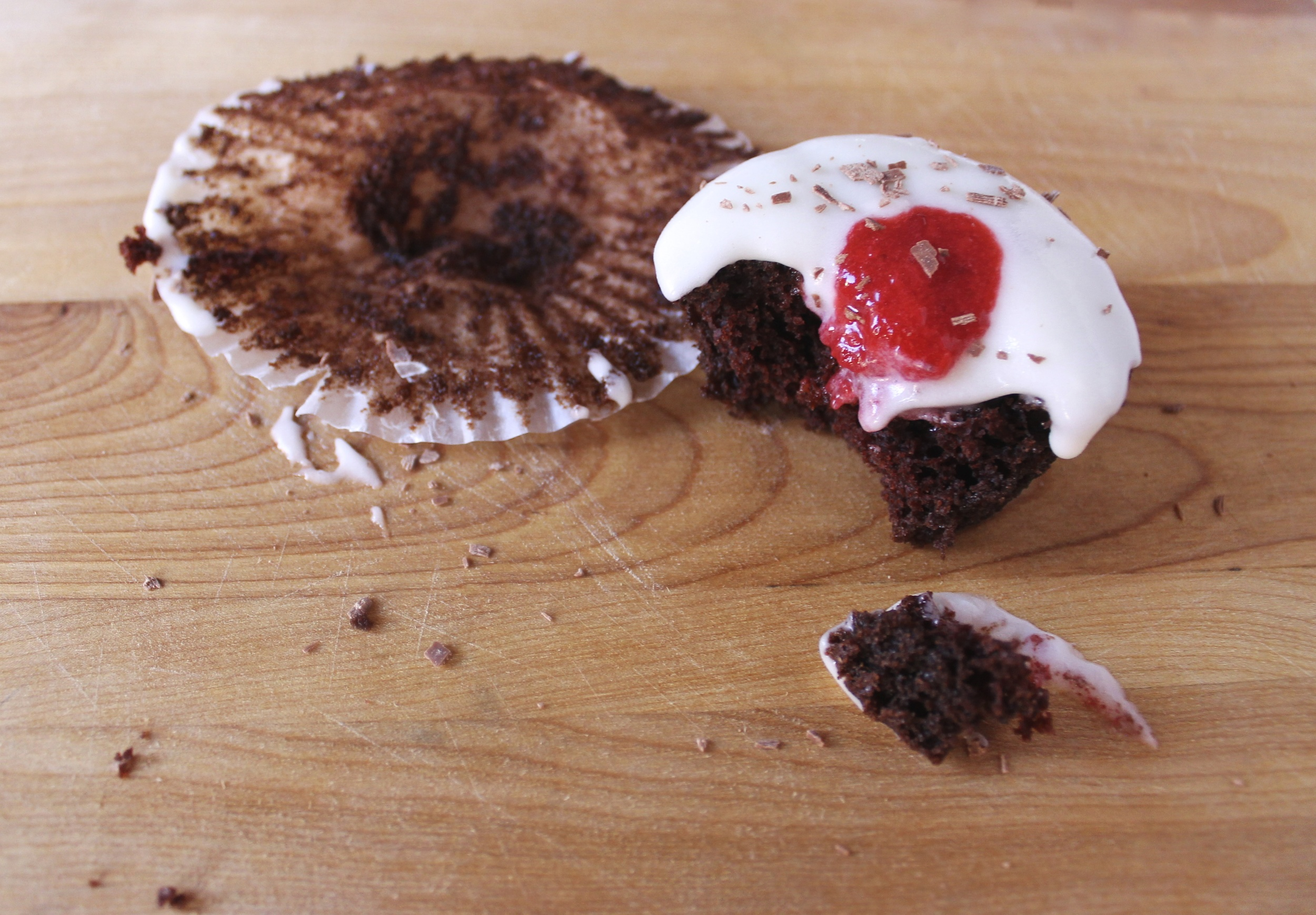 eaten chocolate strawberry champagne cupcakes