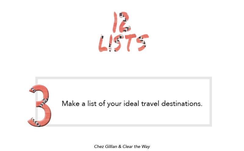 12 Lists Number 3 ideal travel destinations