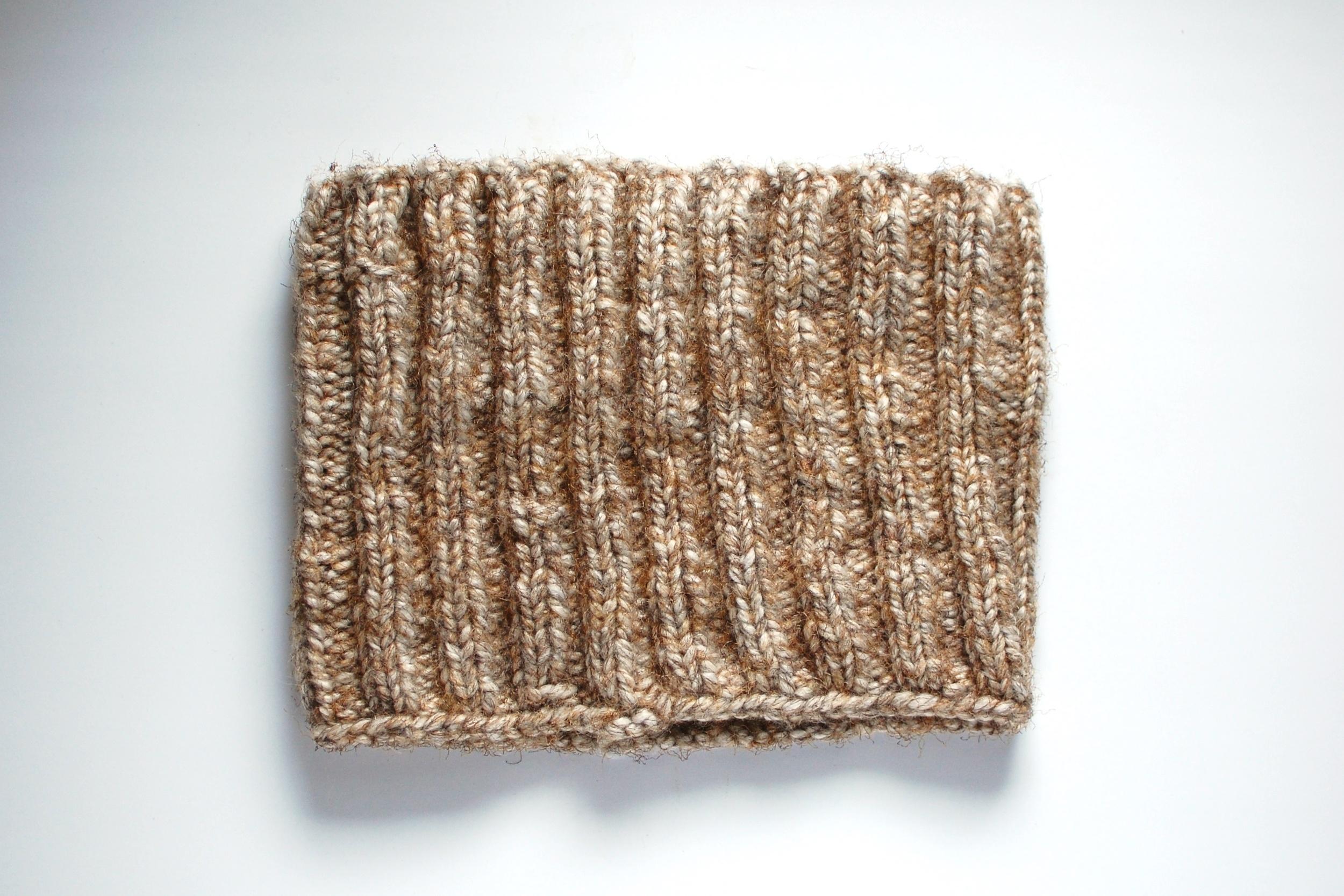 rib knit 2 purl 2 infinity scarf