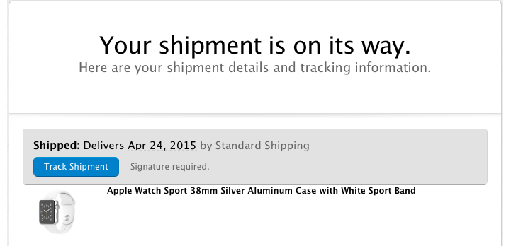 shipment on its way
