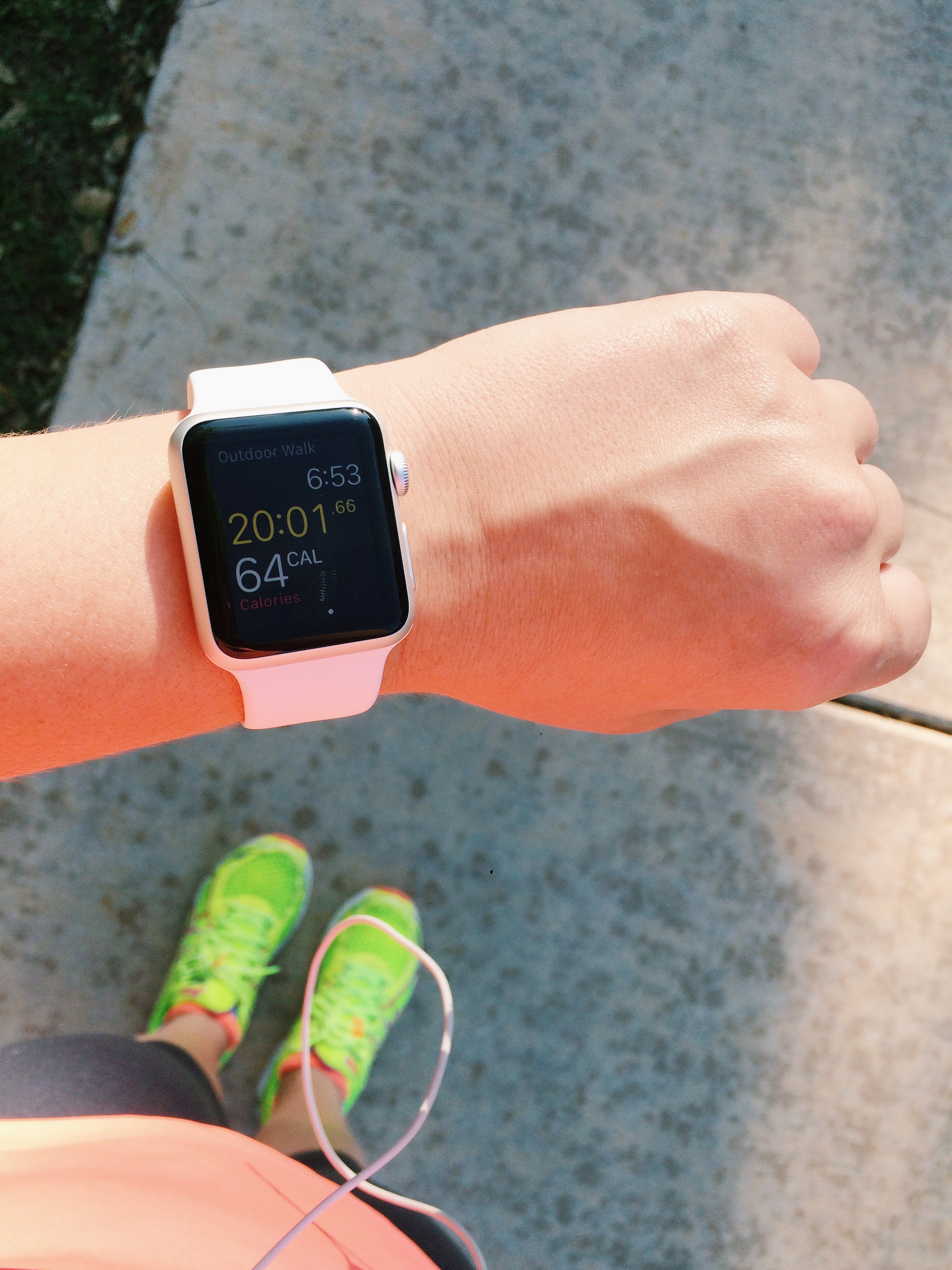 running with the Apple Watch Sport