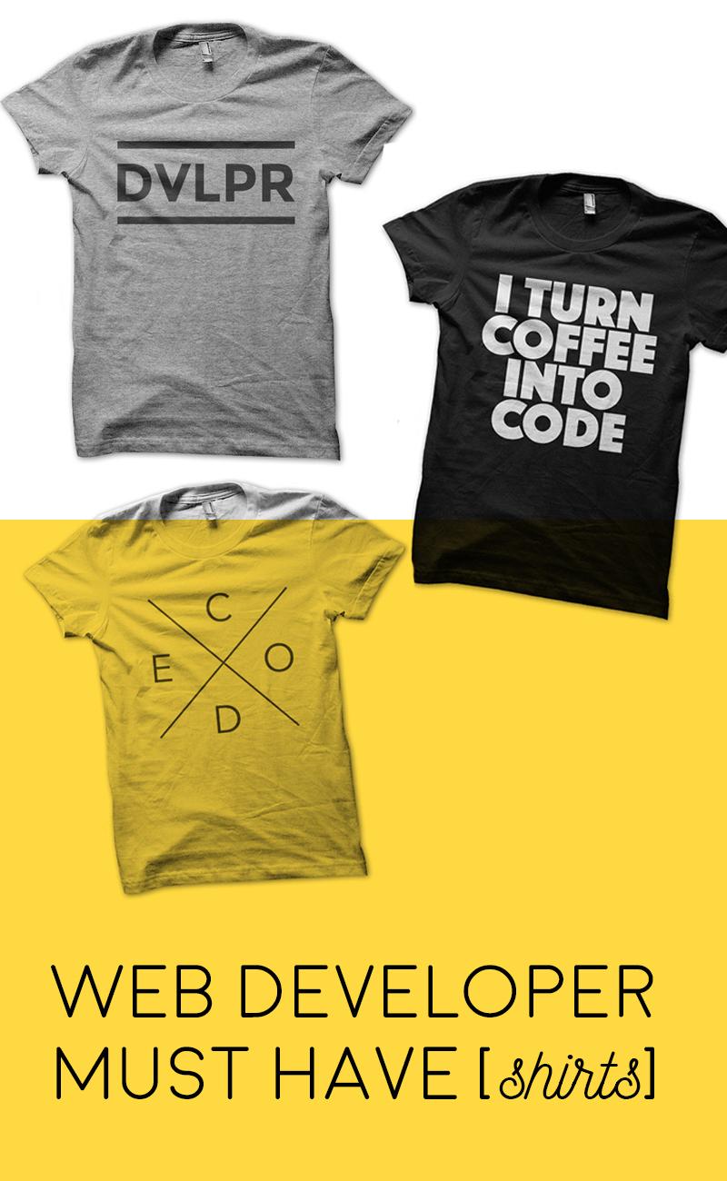 Web Developer Must Have Shirts | ashleyjoanna.com