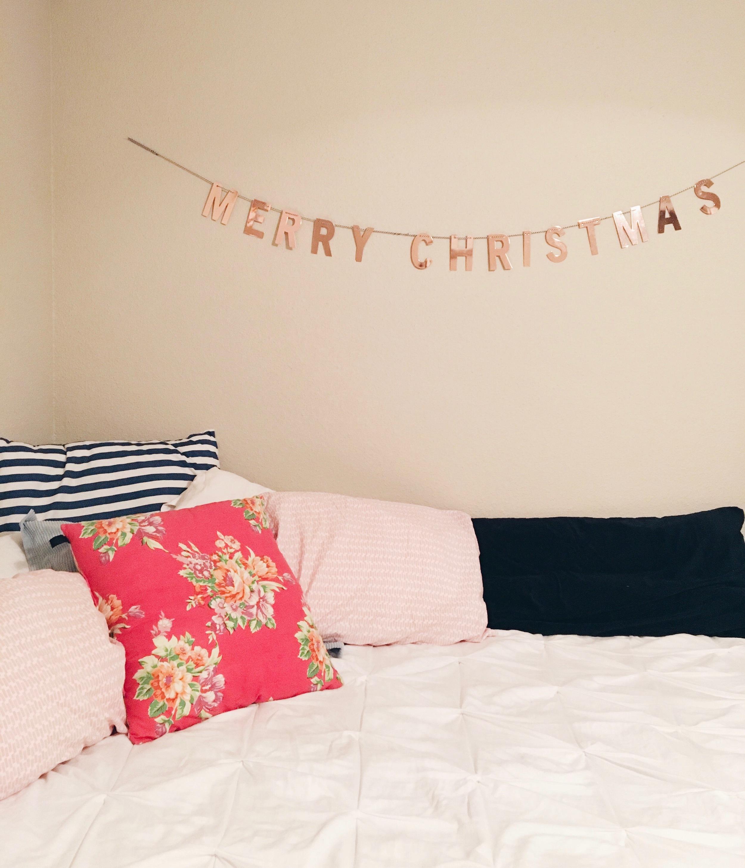 Threshold Gold Metallic Merry Christmas Banner