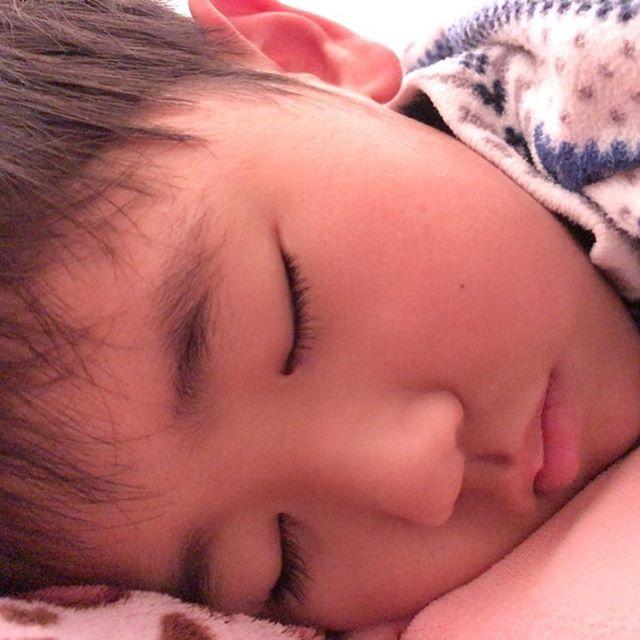 赤ちゃんの時からちっとも 寝顔変わらん😳 癒されるわー😊💕 #息子 #寝顔 #癒し #おいしそう な#ほっぺ