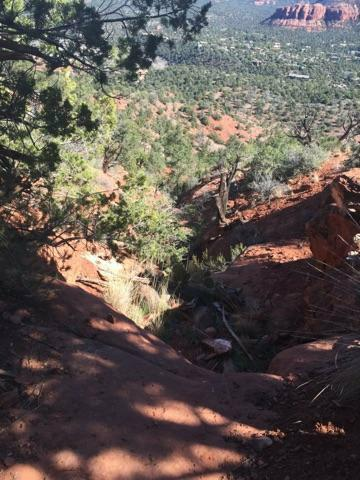 Sedona Catherdral Rock straight down!.jpg