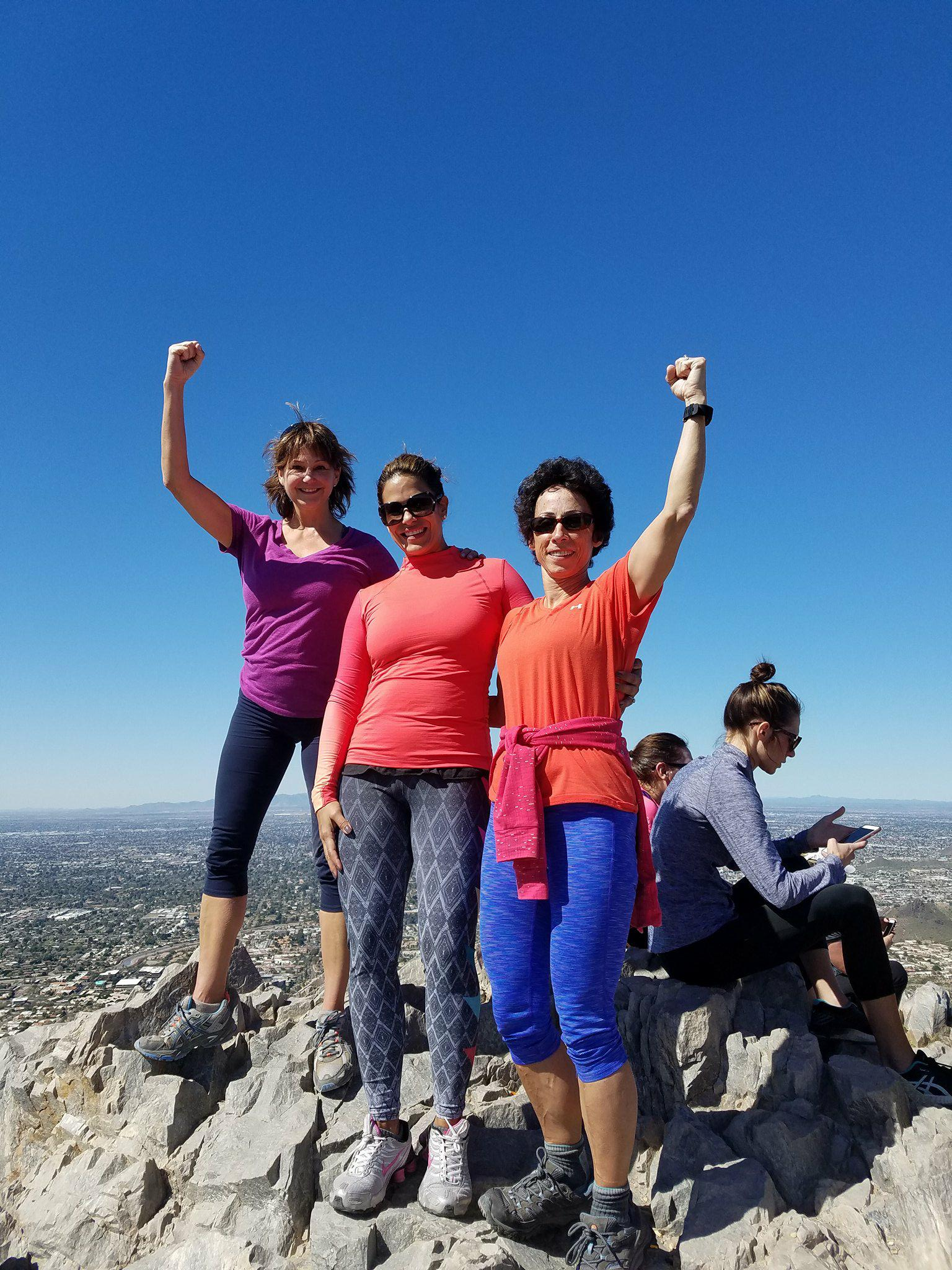 Reb Geo Karen top of Piestewa.jpg