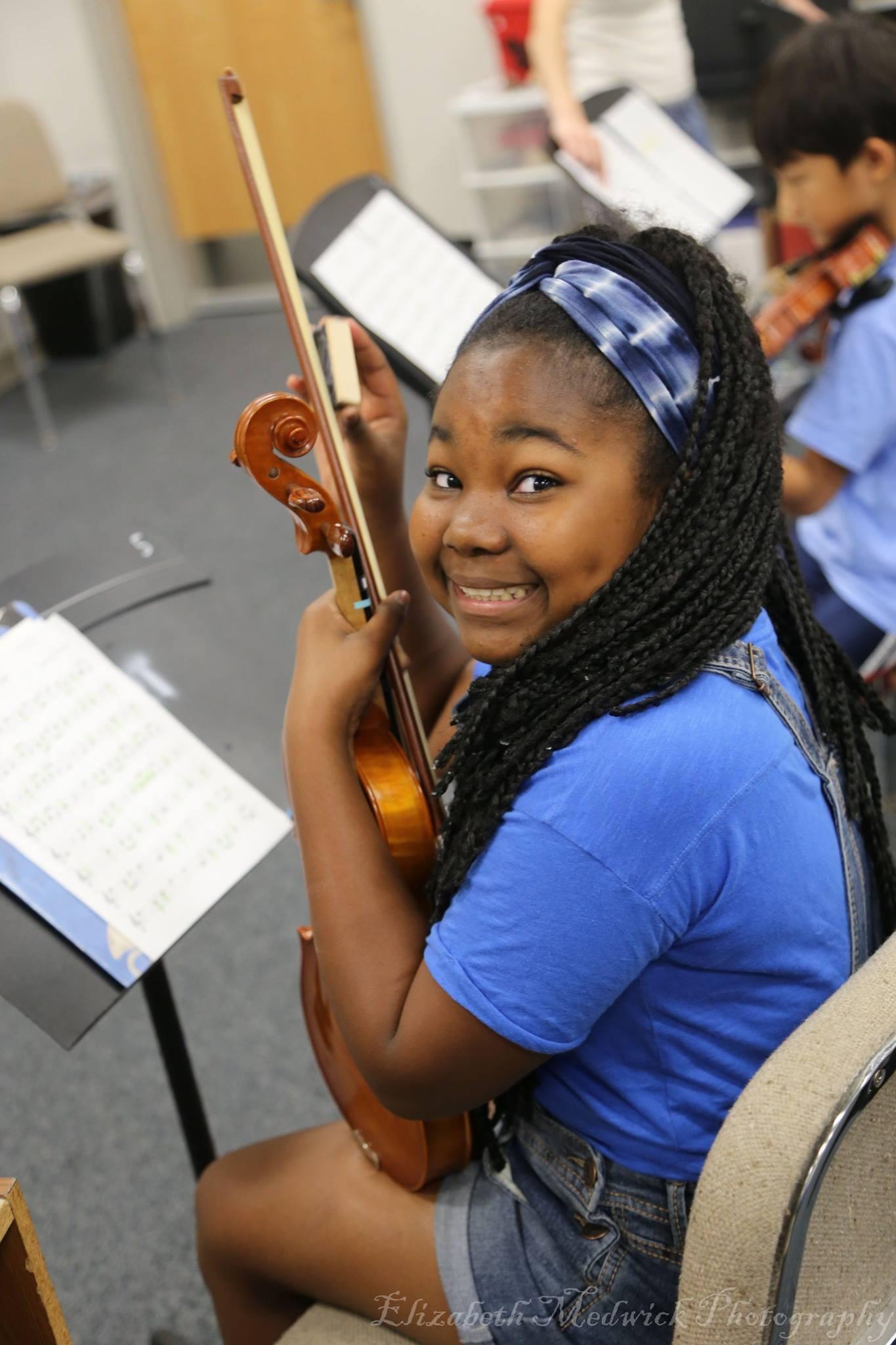 Learning violin is fun!