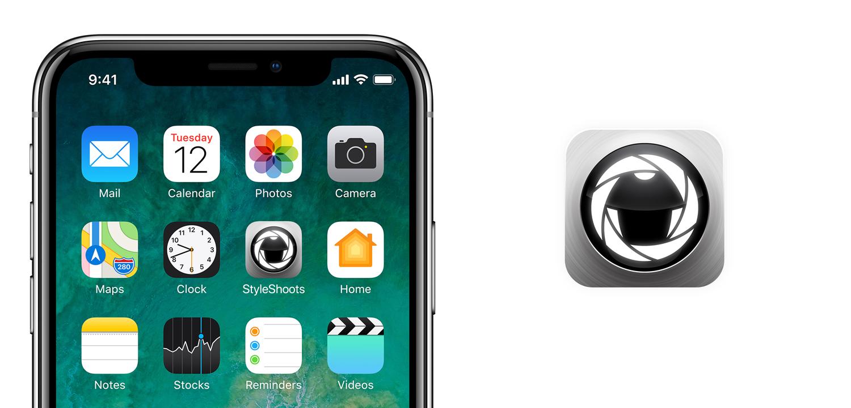 app icon design for StyleShoots