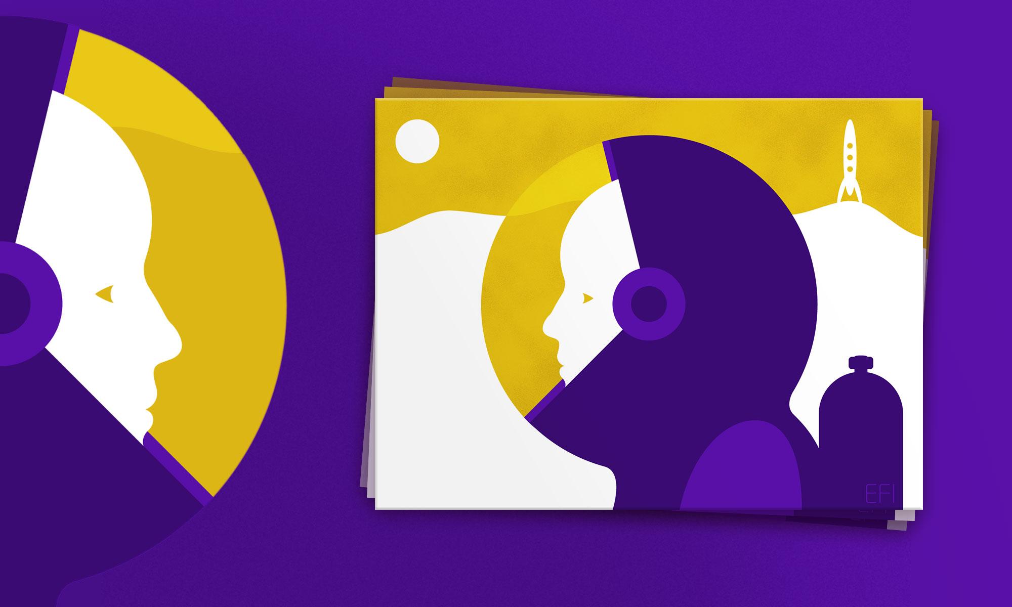 Postcard illustration - personal project