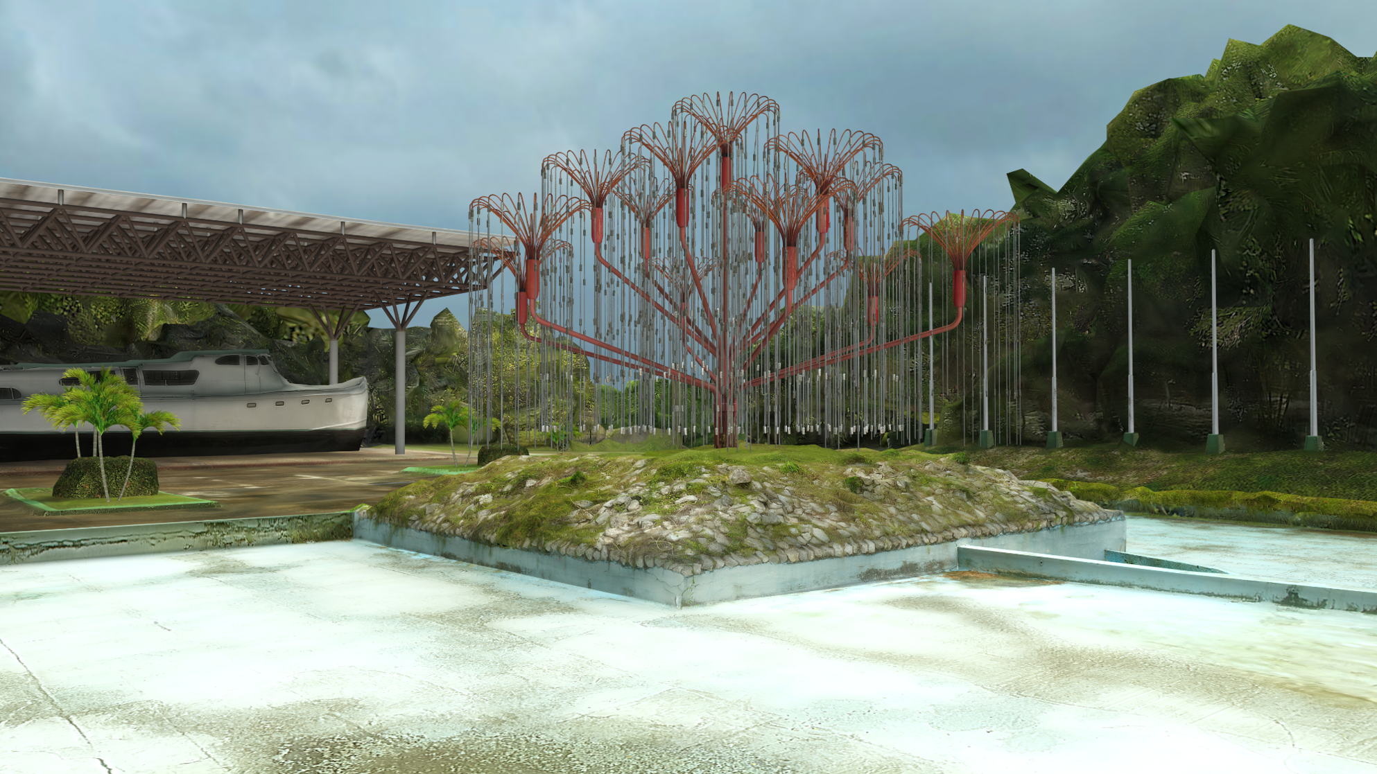 Arbol Rojo, to be viewed on the HMD Odyssey Mixed Reality Headset. A challenge due to low polycount restrictions, unrestrained camera, and lack of lighting controls.