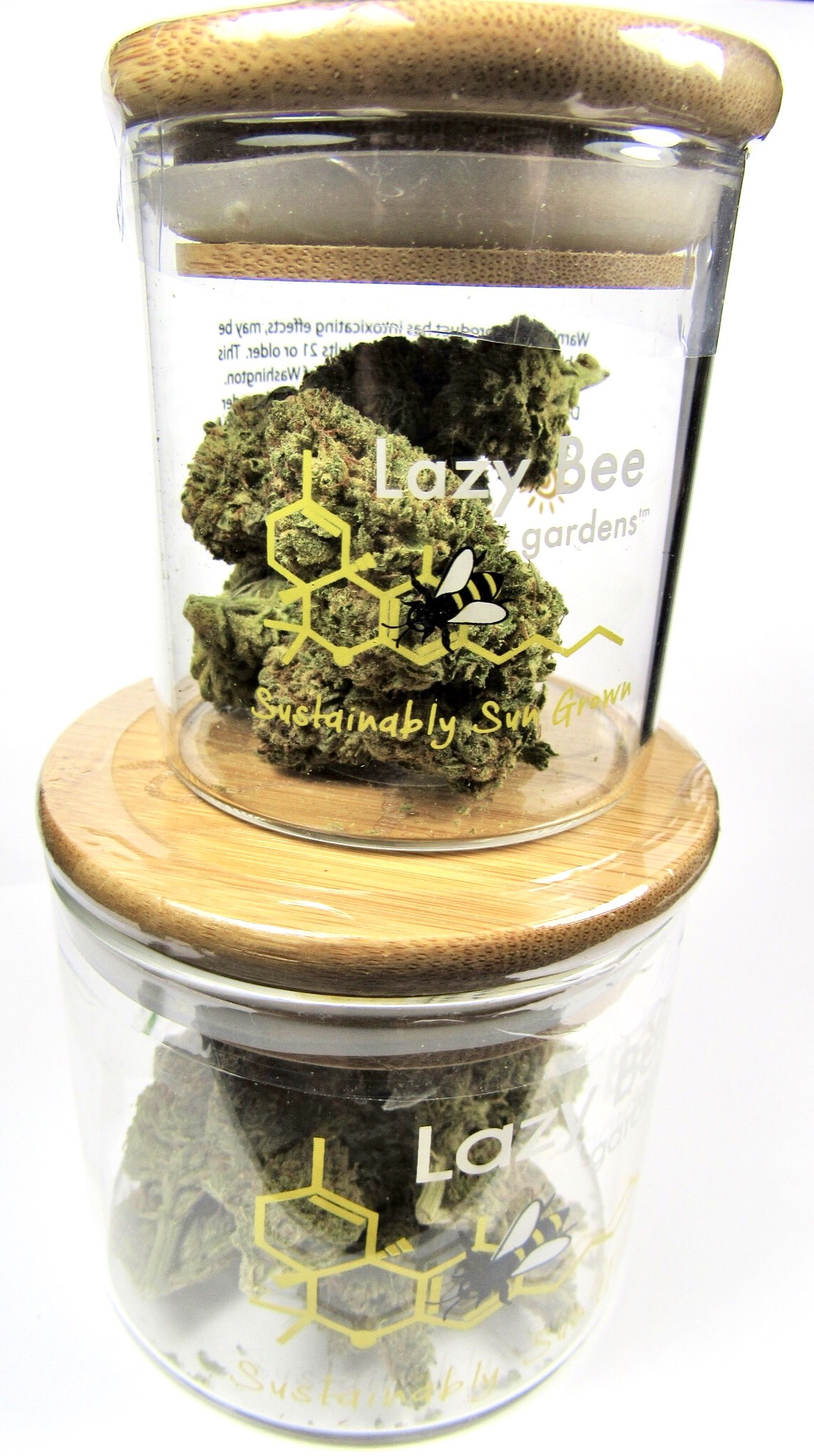 - First up, get 3.5 grams of Lazy Bee's WiFi OG, originally $34, now at $27! Lazy Bee is all award-winning, sustainably sun-grown flower. We're so happy to have them in-store!