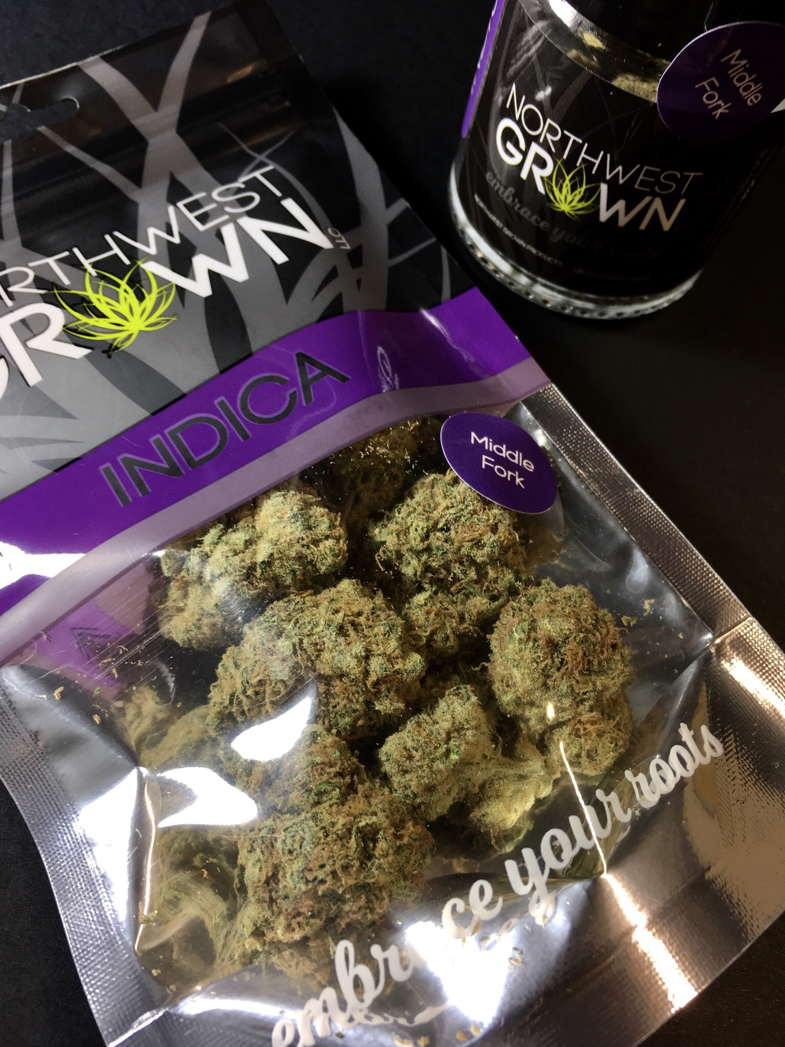 Northwest Grown Indica Middle Fork Ganja Goddess